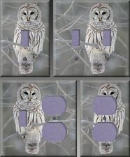 Barred Owl Wall Decor Light Switch Plate Cover