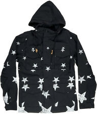 Black Scale Wurster Men's Jacket Black S-2XL BLVCK SCVLE Stars Zipper Pockets