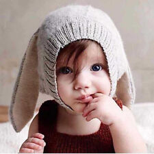 Toddler Girls Boys Crochet Earflap Beanie Hat Newborn Baby Kids Warm Soft Cap