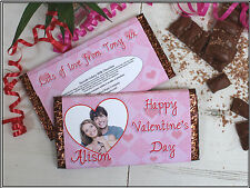 Personalised Valentines Day Love 114g Galaxy Milk Chocolate Bar Wrapper Gift N29
