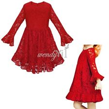 Flower Girl Dress Princess Christmas Vintage Special Occasion Party Wedding Lace