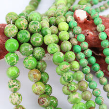 1Bunch Green Natural Gem Spacer Beads Charm Pendant Necklace Jewelry DIY 4-12mm