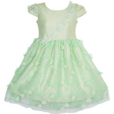 Flower Girls Dress Butterfly Party Wedding Bridesmaid Dress Size 4-10 Pageant