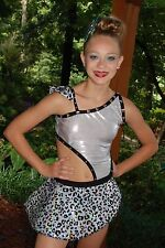 Silver and black custom competition dance costume jazz tap open CL/AXS