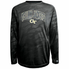 Georgia Tech Yellow Jackets Champion Chrome Long Sleeve T-Shirt - Black - NCAA