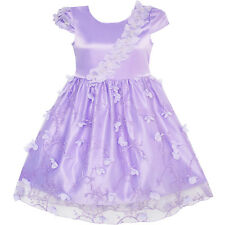 Flower Girls Dress Butterfly Party Wedding Bridesmaid Dress Age 4-10 Years