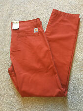 BNWT CARHARTT PRIME PANT CHINO TROUSERS 33 W 34L SUIT 32 W ALSO COST £75