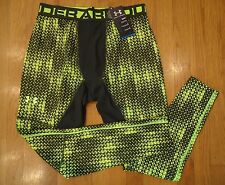 NWT UNDER ARMOUR COLD GEAR COMPRESSTION FIT PANTS TIGHTS NEON GREEN MENS XLARGE
