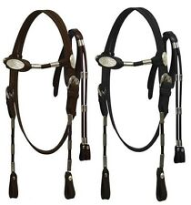 WESTERN LARGE PONY - COBB HORSE SIZE BRIDLE HEADSTALL W/ REINS BROWN OR BLACK
