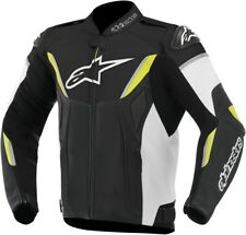 Alpinestars 15' GP-R Perforated Leather Motorcycle Jacket Black/White/Yellow