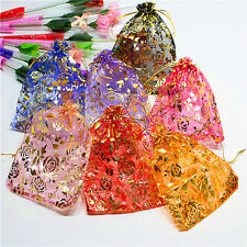 100 pcs Organza Jewelry Candy Gift Pouch Bags Wedding Party Favors Decor Xmas