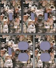 Kitten Collage Wall Decor Light Switch Plate Cover