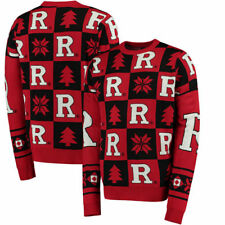 Rutgers Scarlet Knights Patches Ugly Pullover Sweater - Scarlet - NCAA