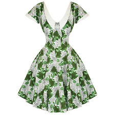 Hearts & Roses London Green Pear Vintage 50s Party Prom Swing Full Flare Dress U