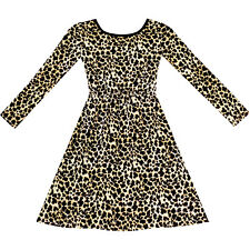 Sunny Fashion Girls Dress Leopard Print Fall Winter Dress Age 3-12 Years