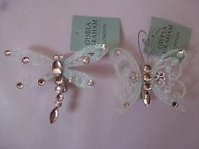 Gisela Graham Pink Glitter Diamante Insect on a Clip Dragon/butterfly Xmas Dec