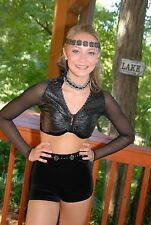 Black  custom competition dance costume AXS AS AM lyrical open modern pageant