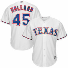 Derek Holland Texas Rangers Majestic Cool Base Player Jersey - White