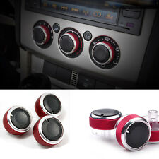 3Pcs Red Blue Focus Mondeo Air Conditioning Control Switch Buttons AC Knob Set