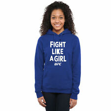 UFC Women's Fight Like A Girl 2015 Pullover Hoodie - Royal - MMA