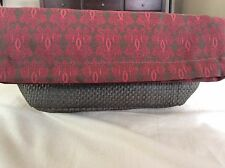 Classic Guerlain Paris Brown/Red Makeup Bag/Cosmetic Case - New - Great Gift!