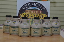 6 Pints of Pure Vermont Organic Maple Syrup