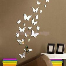 Creative Acrylic Mirror Wall Removable Decal Art Mural Home Decor Vinyl Stickers