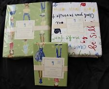 NEW Pottery Barn Kids 5 Pieces Happy Children, Play Outside Bedding Set. TWIN