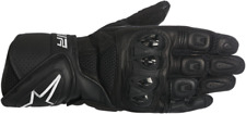 Womens Alpinestars Stella SP Air Black Leather Motorcycle Riding Street Gloves