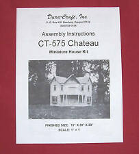 Dura-Craft  *CHATEAU* CT-575  Dollhouse Instructions