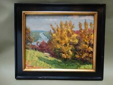 "Donald Louis Ruf ""Fall Scene"" Oil on Board"