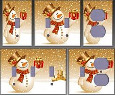 Snowman Christmas Gift Wall Decor Light Switch Plate Cover