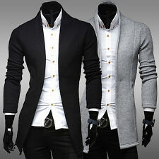 Men's Fashion Stylish Knit Cardigan Jacket Long Sleeve Casual Sweater Coat Hot C