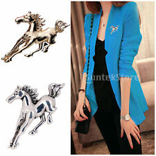 Fashion Charms Metal Alloy Tone Women Metal Horse Wedding Bridal Brooch Pin