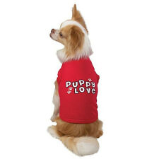 LARGE or XLARGE - PUPPY LOVE TANK - DOG SHIRT TEE - RED