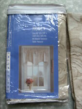 Designables ROSEY M-Shaped Valance Curtain Natural 42Wx18L Floral Roses New