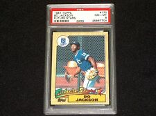 1987 BO JACKSON ROOKIE #170 TOPPS FUTURE STARS PSA #8 NM-MINT (7704)