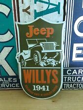 JEEP WILLYS RELIABLE 4WD EMBOSSED METAL SIGN SHOP GARAGE MAN CAVE