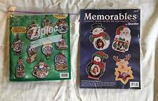 Counted Cross Stitch Kit Bucilla kit 84109 Snow Domes , kit 33931 Memorables