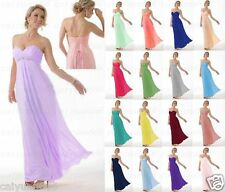 NEW Long Chiffon  Formal Party Ball Gown Prom Evening Bridesmaid Dress Size 6-18