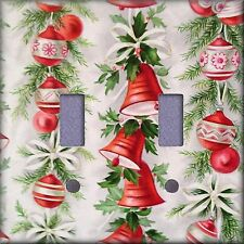 Christmas Bells and Ornaments Light Switch Plate Cover Wall Decor