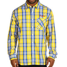 Crooks & Castles The Barney Plaid Button-Front Shirt in Yellow Sz M NWT Crooks