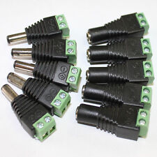 For 5050 3528 LED Strip Light 5X DC 12V Power Supply Plug Adapter Connector