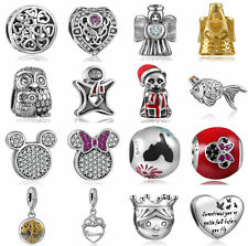 New European Silver CZ Charm Beads Fit sterling 925 Necklace Bracelet Chain
