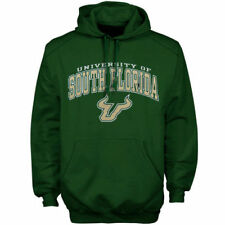 South Florida Bulls Arch Over Logo Hoodie - Forest Green - NCAA