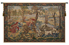 Hunt of the Boar Belgian Medieval Hunting Scene Woven Tapestry Wall Hanging