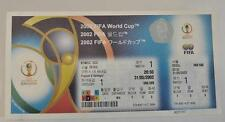 2002 FIFA World Cup KOREA/JAPAN Match 1 France vs Senegal Unused Tickets