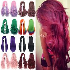 All Colors Cosplay Wigs Rainbow Hair Anime Costume Long Wig Party Fancy Dress PY