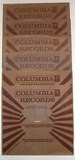 COLUMBIA RECORD COMPANY 45 RPM  PAPER SLEEVES 6 PACK