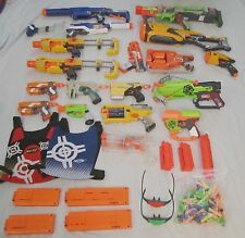 Lot of 18 Nerf Guns + Accessories  **NO PO BOXES PLEASE**